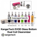 KangerTech EVOD Glass Bottom Dual Coil Clearomizer