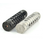 Tesla AR18650 Mechanical Mod Black / Stainless